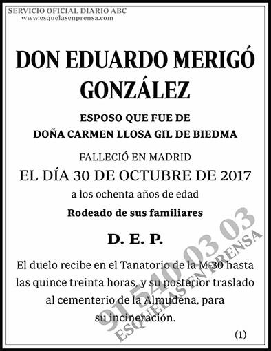 Eduardo Merigó González